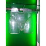 Expositor silueta baño caballero transparente